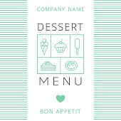 Dessert Menu Card Design template.