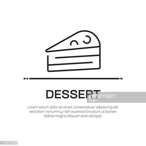 dessert vector line icon - simple thin line icon, premium quality design element - brownie stock illustrations, clip art, cartoons, & icons