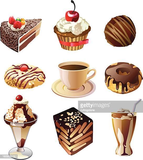 ilustrações, clipart, desenhos animados e ícones de dessert2 - milk shake