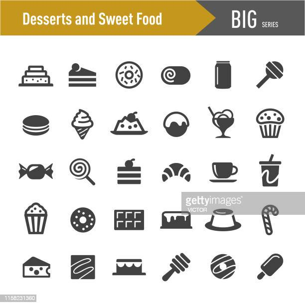 Desserts and Sweet Food Icons - Big Series