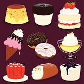 Desserts icon set - EPS8