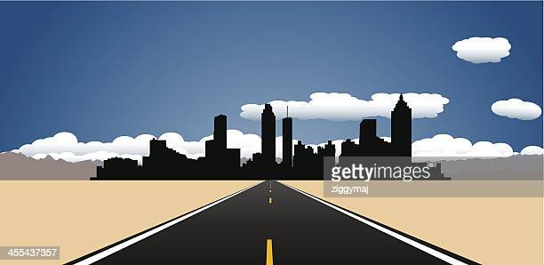 destination atlanta - atlanta stock illustrations, clip art, cartoons, & icons