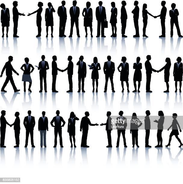 詳細なビジネス人々 のシルエット