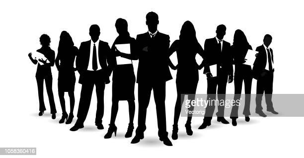 detailed business people - full suit stock illustrations