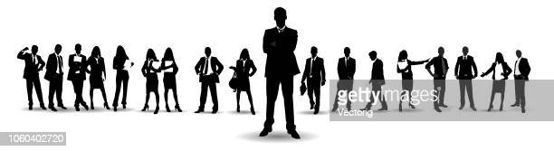 detailed business people - professional occupation stock illustrations