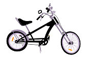 Detailed chopper bicycle