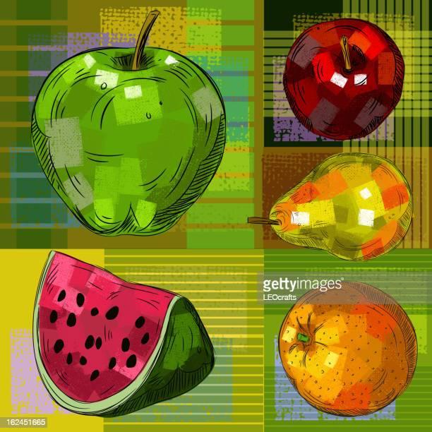 詳細な図面のフルーツ