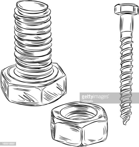 Detailed Drawings of Nut and bolt