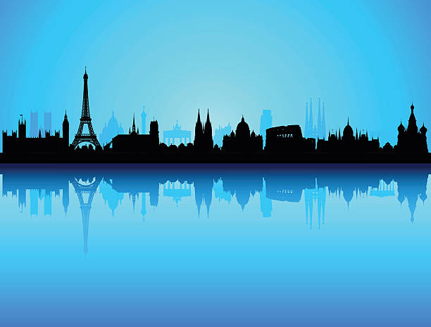 Detailed Europe Skyline (Each Building Is Complete And Moveable) Wall Art