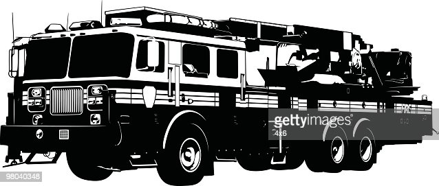 detailed fire truck vector art | getty images