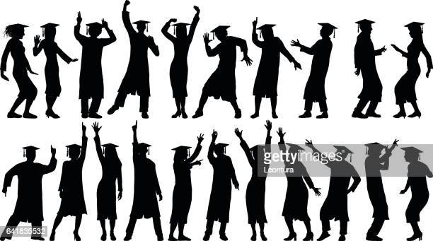 Detailed Graduates Dancing