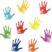 Detailed Handprints