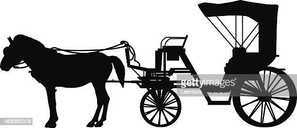 detailed horse and cart - horsedrawn stock illustrations, clip art, cartoons, & icons