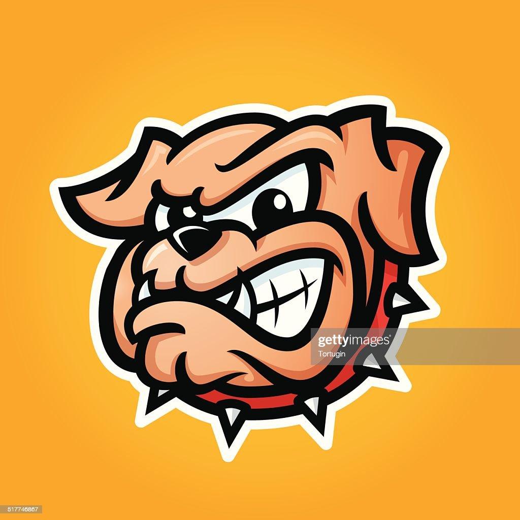 Detailed illustration of bulldog head