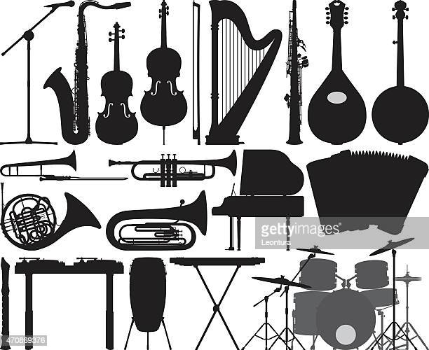 detailed instruments - saxaphone stock illustrations, clip art, cartoons, & icons