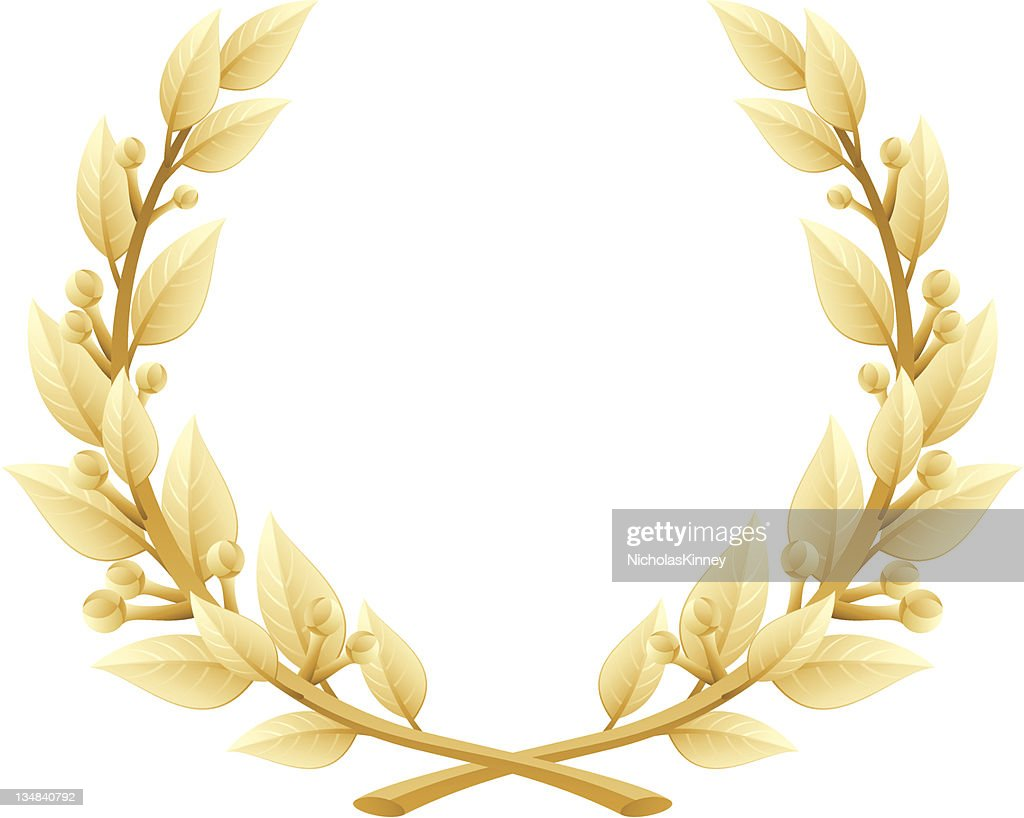 Detailed Laurel Wreath Victory or Quality Award, Vector Illustration