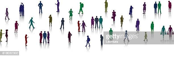 detailed little people - miniature people stock illustrations, clip art, cartoons, & icons