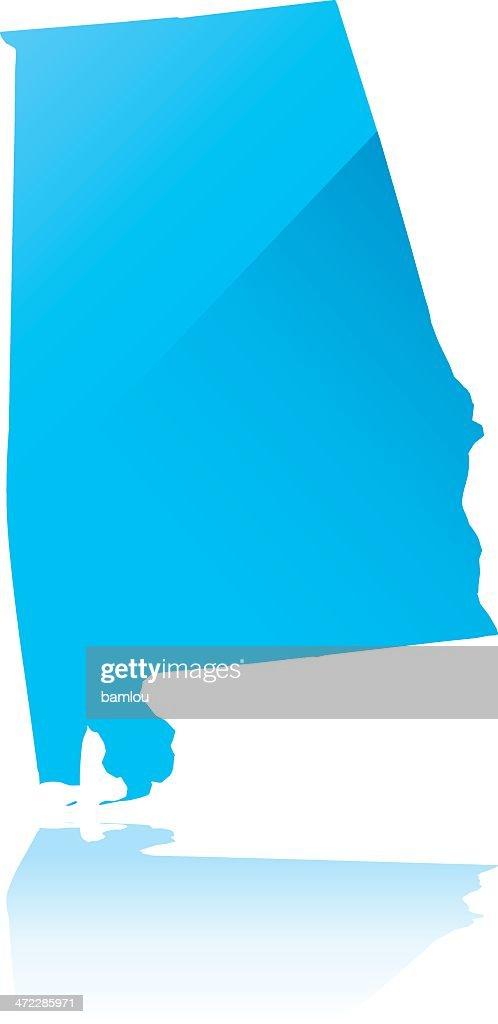 Detailed map of Alabama state