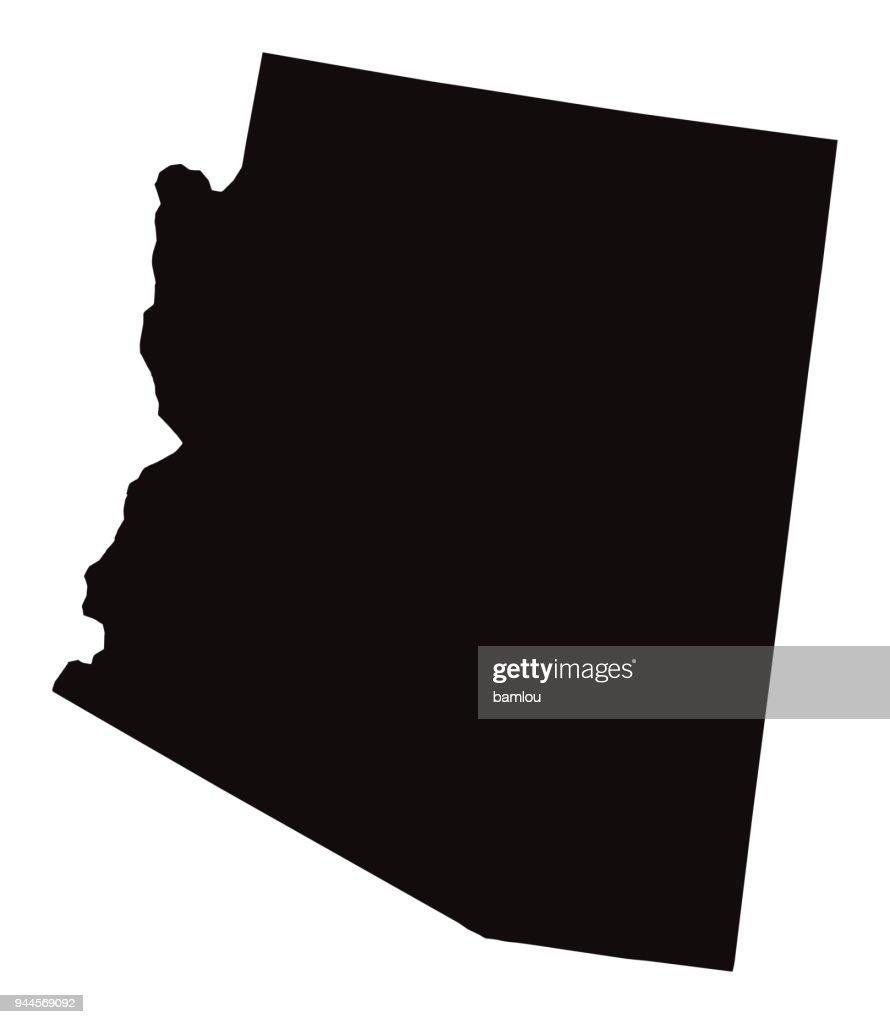 Detailed Map of Arizona State