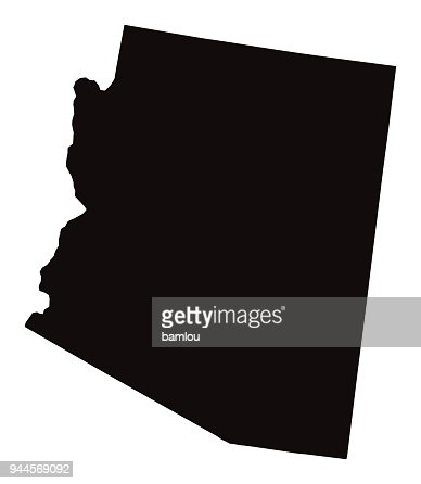 Detailed Map Of Arizona State High-Res Vector Graphic - Getty Images