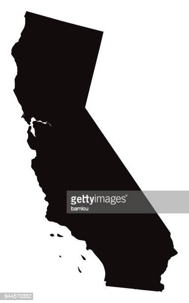 detailed map of california state - country geographic area stock illustrations, clip art, cartoons, & icons