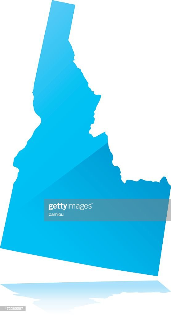 Detailed Map Of Idaho State Vector Art   Getty Images