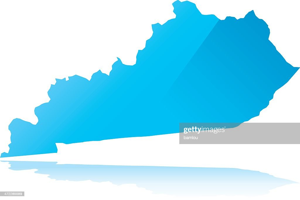 Detailed map of kentucky state