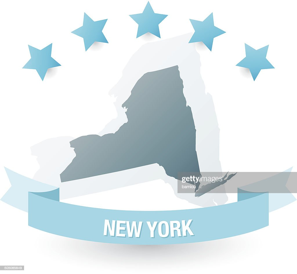 Detailed Map Of New York State stock vector | Getty Images on