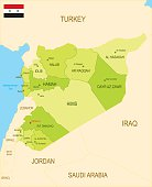 Detailed map of Syria