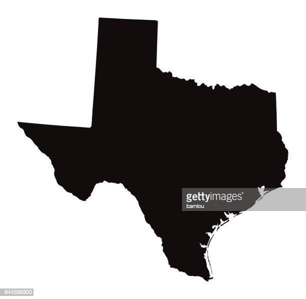 detailed map of texas state - texas stock illustrations