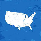 vector highly detailed map united states