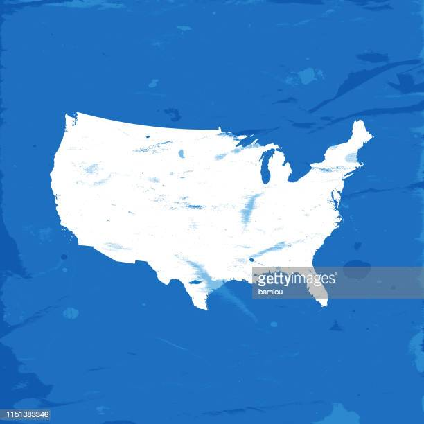detailed map of the united states of america - country geographic area stock illustrations, clip art, cartoons, & icons