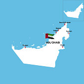 A detailed map of United Arab Emirates