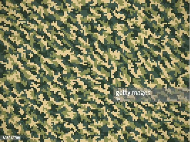 detailed military camouflage pattern - marines military stock illustrations, clip art, cartoons, & icons