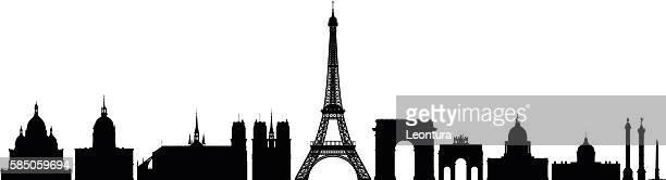 パリの詳細モニュメント - カルチェデザンヴァリッド点のイラスト素材/クリップアート素材/マンガ素材/アイコン素材