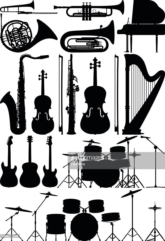 Detailed Musical Instruments : stock illustration