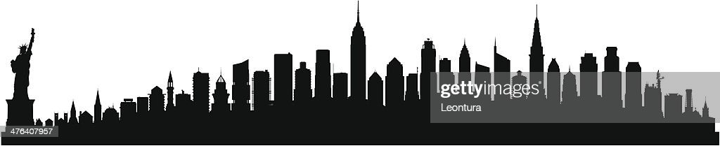 Detailed New York Skyline (Each Building is Moveable and Complete)