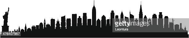 detailed new york skyline (each building is moveable and complete) - chrysler building stock illustrations, clip art, cartoons, & icons