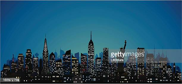 detailed new york (124 complete, moveable buildings) - empire state building stock illustrations, clip art, cartoons, & icons