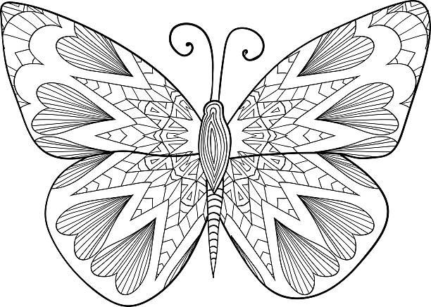 Pattern For Coloring Book Butterfly Stroke