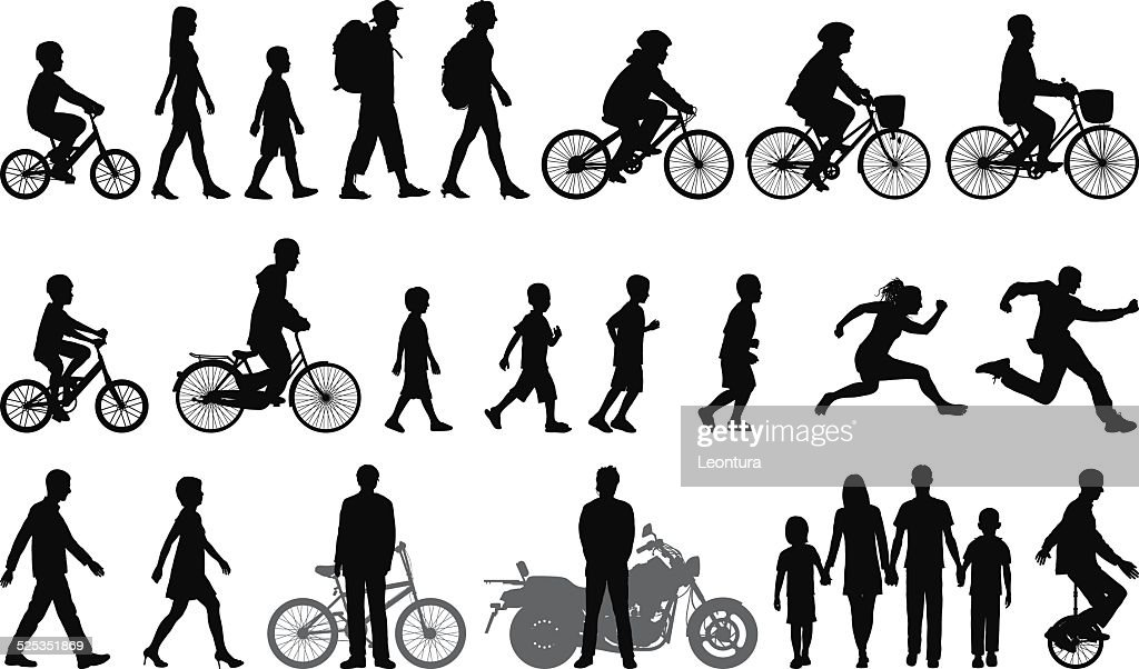 Detailed People Moving : stock illustration