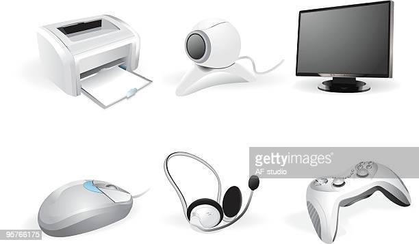 Detailed peripheral icon set