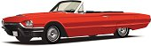 Detailed Red Classic Convertible Vector