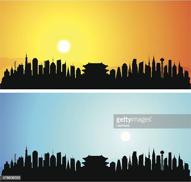 detailed seoul, korea (each building is moveable and complete) - namdaemun gate stock illustrations, clip art, cartoons, & icons