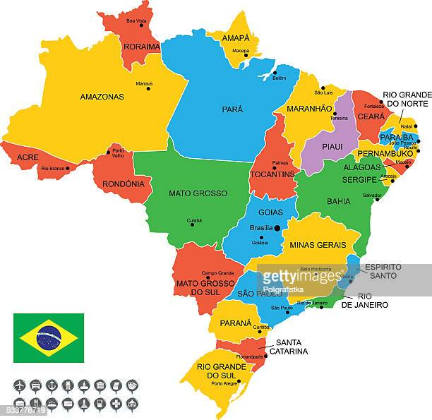 Detailed Vector Map of Brazil