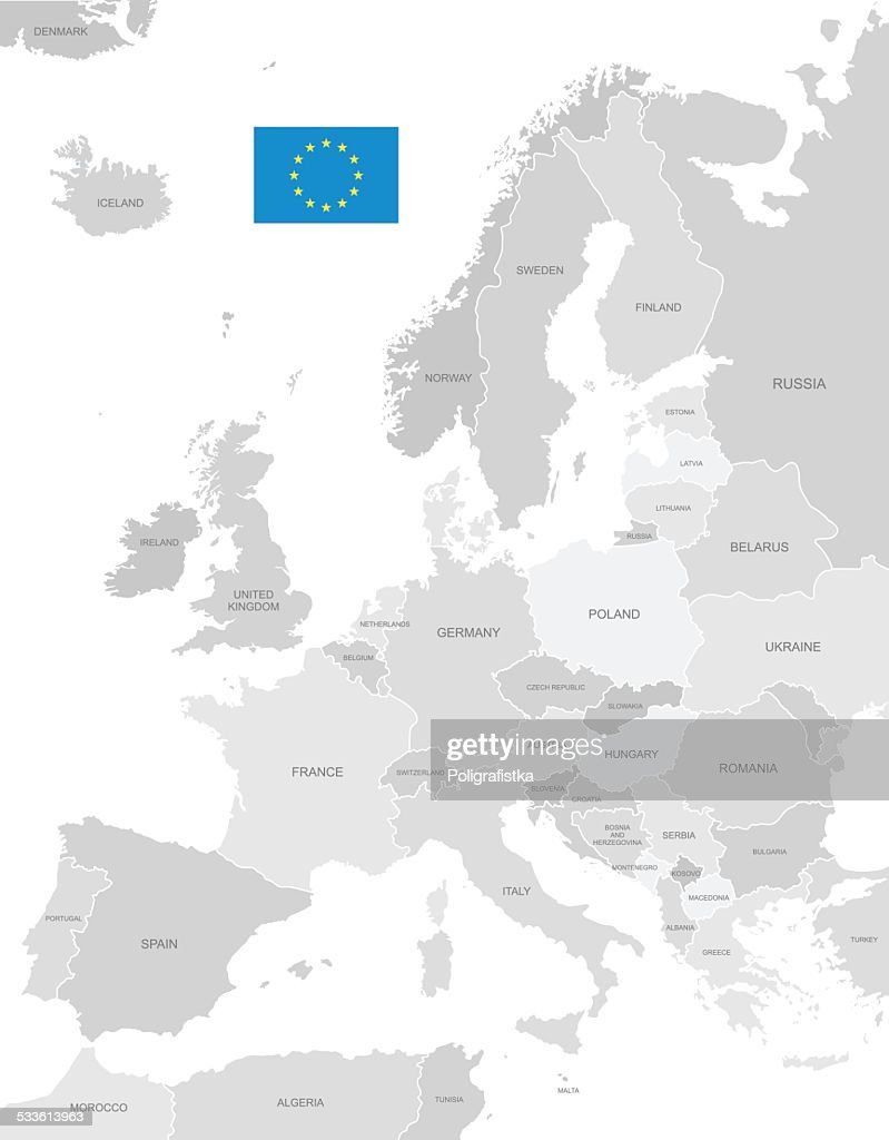 Detailed Vector Map of Europe
