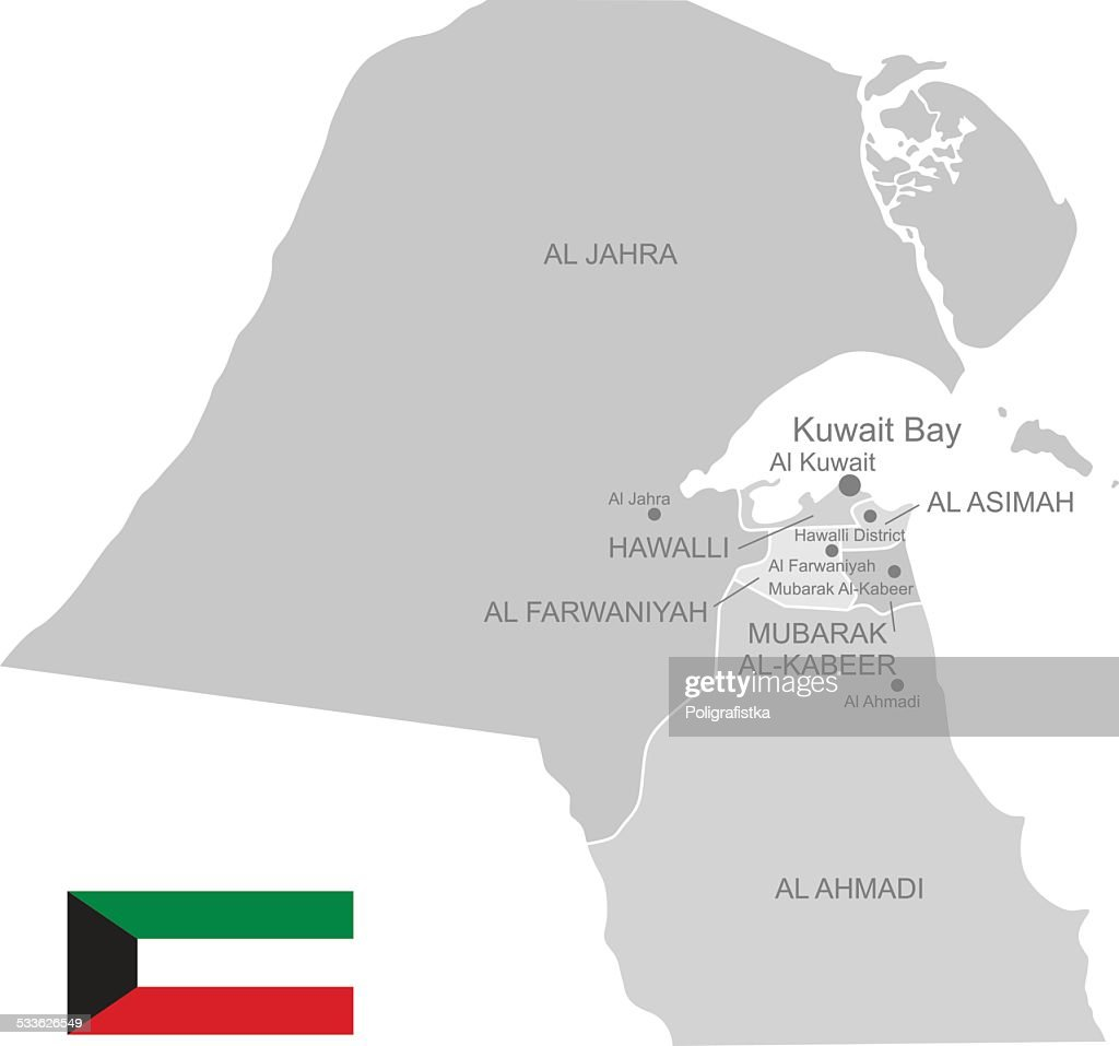 Detailed Vector Map of Kuwait
