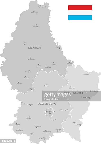 Detailed Vector Map of Luxembourg