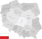 Detailed Vector Map of Poland
