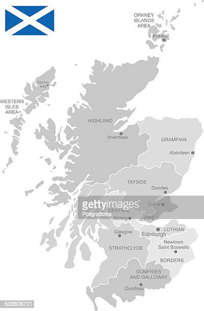 Detailed Vector Map of Scotland